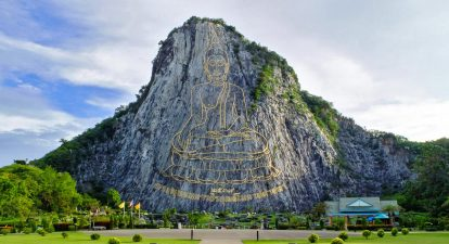 du lịch pattaya tự túc: tham quan núi phật vàng khao chi chan
