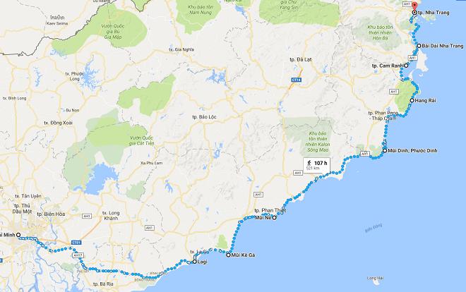 tuyến đường phượt sài gòn nha trang bằng đường biển