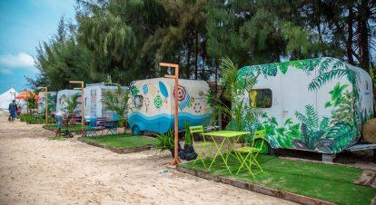 nhà xe di động ở coco beach camp