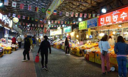 kinh nghiệm du lịch jeju tự túc: ăn gì, chơi gì, ở đâu? chợ đêm dongmun