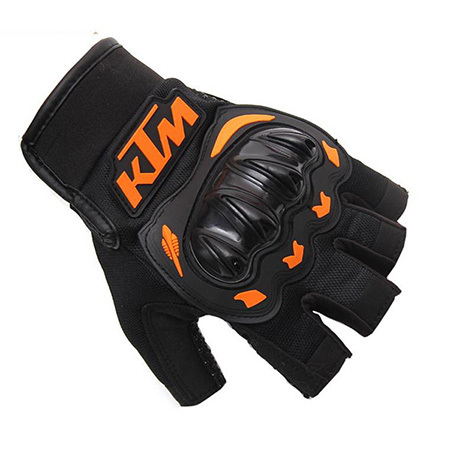Găng tay KTM cụt ngón cam đen