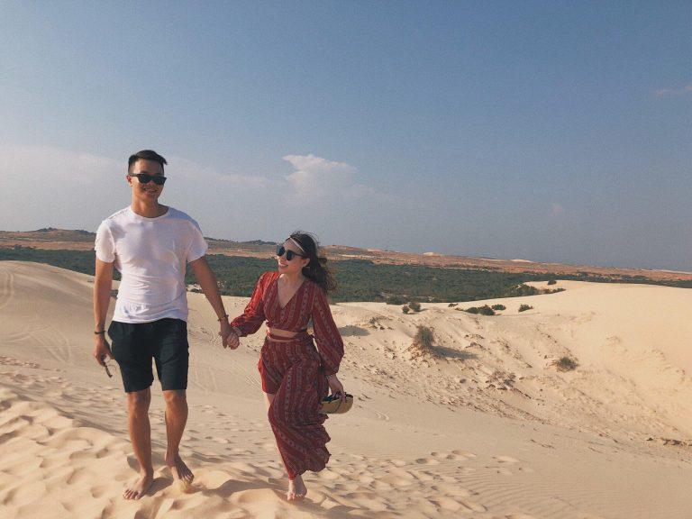 du lịch mũi né nên đi đâu chơi? đồi cát trắng bầu trắng