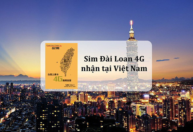 SIM 4G Đài Loan không giới hạn dung lượng – nhận tại Việt Nam