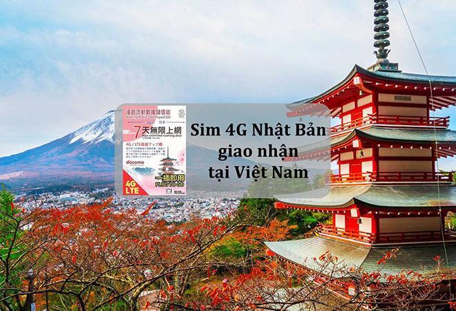 SIM 4G Nhật Bản – nhận tại Việt Nam