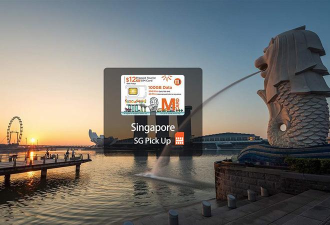 SIM 4G Singapore 100GB sử dụng 7 ngày