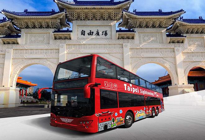 Vé xe bus 2 tầng Hop On Hop Off Đài Bắc