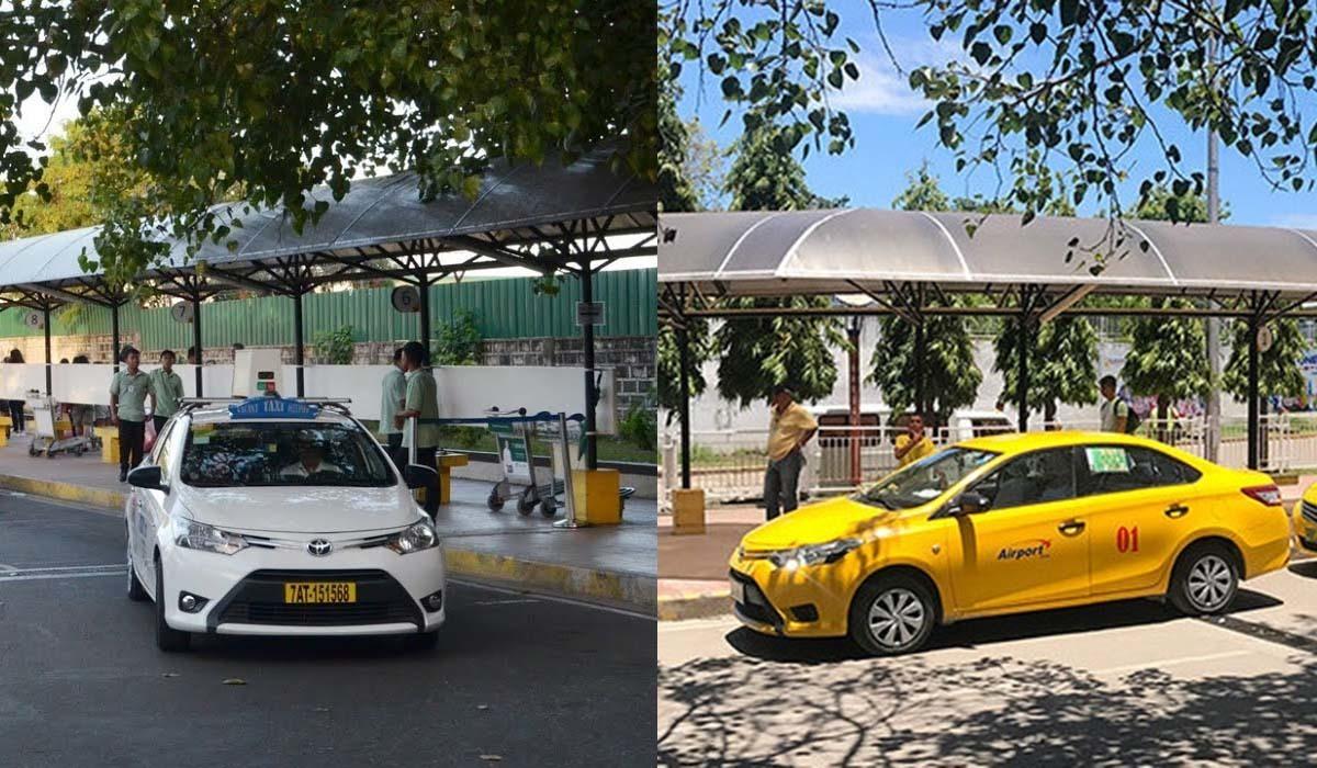 taxi trắng taxi vàng tại cebu philippines