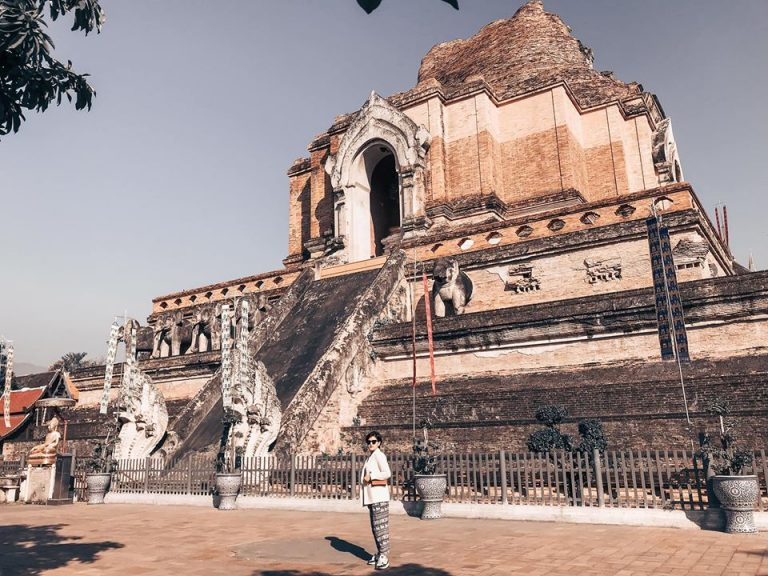chùa wat chedi luang ở chiang mai