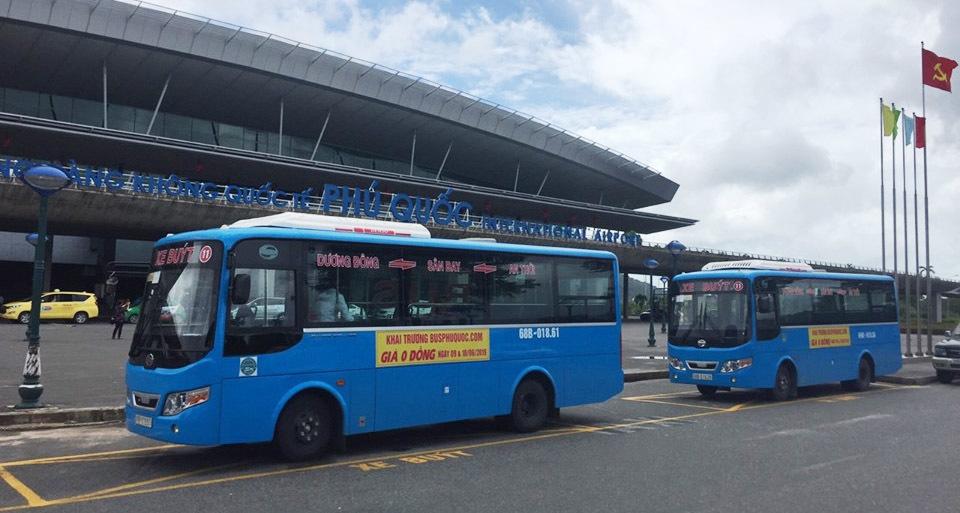 đi từ sân bay phú quốc về trung tâm thị trấn dương đông bằng xe bus