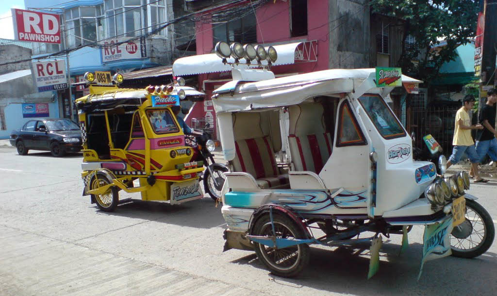 xe tricycle ở cebu philippines