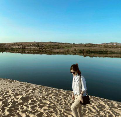 hồ nước tại bàu trắng bình thuận