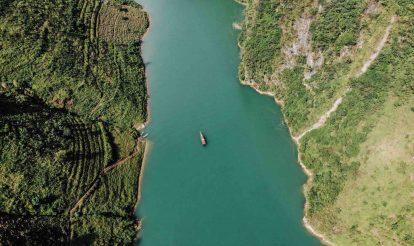 sông nho quế nhìn từ trên cao
