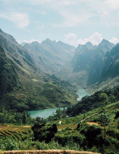 sông nho quế nhìn từ xa