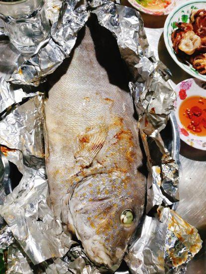 thưởng thức cá nướng tại hòn nghệ kiên giang